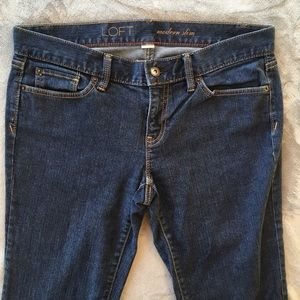 LOFT Dark Wash Modern Slim Straight Leg Jeans